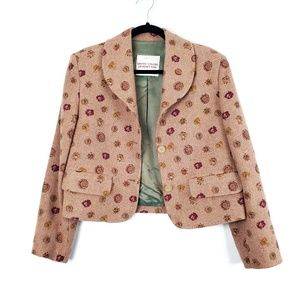 United Colors of Benetton | Floral Cropped Coat 6